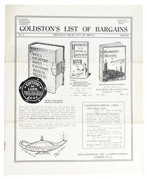 Goldston's List of Bargains No. 6