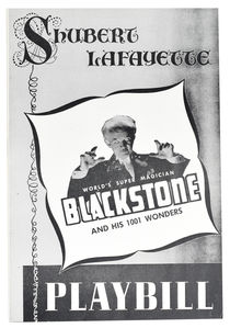 Blackstone and His 1001 Wonders: Shubert Lafayette Theatre
