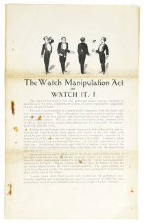The Watch Manipulation Act or Watch It!