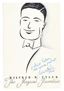 Wilfred Tyler Advertisement, Inscribed and Signed