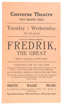 Fredrik The Great at Converse Theatre