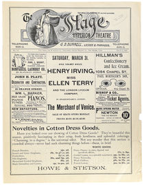 The Stage Hyperion Theatre Program with Kellar Advertisement