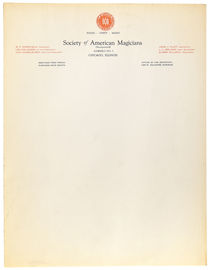 Society of American Magicians Letterhead