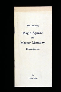 The Amazing Magic Square and Master Memory
