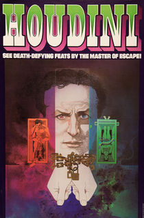 Houdini Bob Peak Illustrated Poster