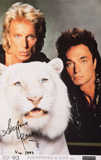 Siegfried & Roy Signed Poster