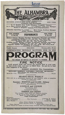 The Alhambra Theatre Program
