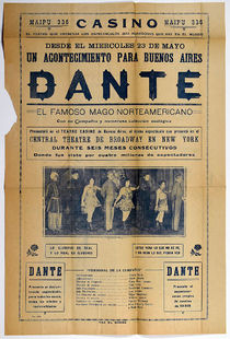 Dante Playbill in Spanish