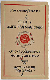 Calendar of Events, Society of American Magicians