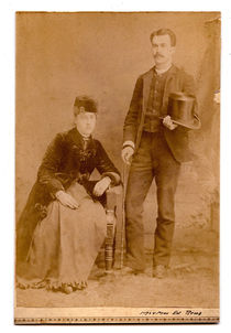 Mr. and Mrs. Edward Reno Card Photograph