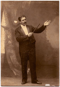 Edward Reno with Wand Card Photograph
