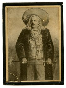 Mounted Photo Illustration of Unidentified Magician