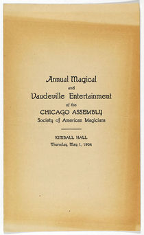 Chicago Assembly of American Magicians Program