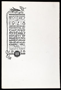 Mysteries of 1928 by the Chicago Assembly of the Society of American Magicians