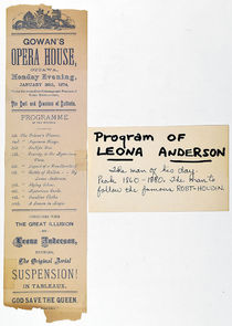 Leona Anderson Aerial Suspension Playbill