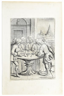Dice Players Engraving