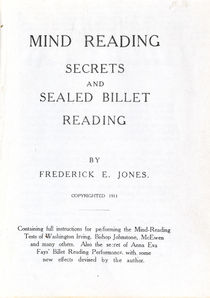 Mind-Reading Secrets and Sealed Billet Reading
