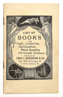 List of Books on Magic, Conjuring, Spiritualism, Mind Reading, and Occult Sciences