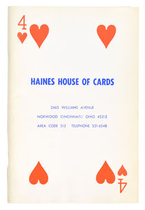 Haines House of Cards, Catalog No. 4