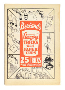 Berland's Amazing Tricks with Paper Cups, Signed