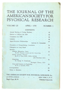 Journal of the American Society for Psychical Research, Volume LII Number 2