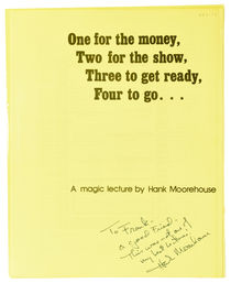 A Magic Lecture by Hank Moorehouse, Inscribed and Signed