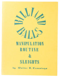 Billiard Balls Manipulation Routine & Sleights, Inscribed and Signed
