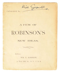 A Few of Robinson's New Ideas, Signed