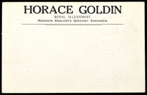 Horace Goldin Postcard