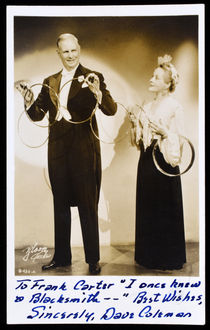 Dave and Pauline Coleman Postcard, Signed