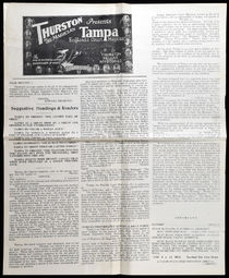 Thurston Presents Tampa Advertisement