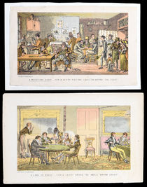 A Game of Whist, Two Prints