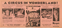 A Circus in Wonderland, Marquis the Magician Broadside