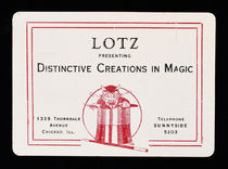 Lotz Presenting Distinctive Creations in Magic Throw-Out Card