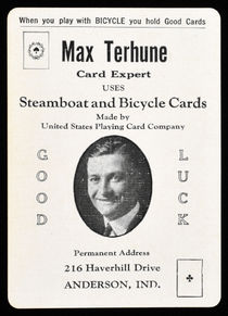 Max Terhune Throw-Out Card