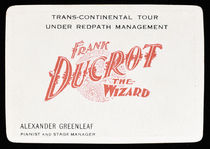 Frank Ducrot, The Wizard Throw-Out Card