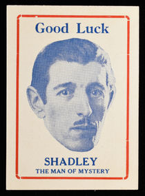 Shadley, the Man of Mystery Good Luck Card