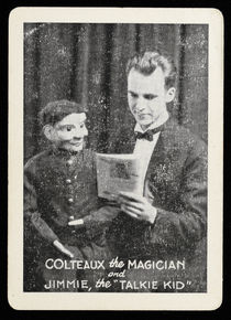 Colteaux the Magician and Jimmie, the Talkie Kid Throw-Out Card