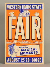 "Western Idaho State Fair ""Magical Moments"" Window Card"