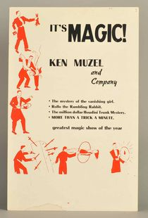 "Ken Muzel and Company ""It's Magic!"" Window Card"