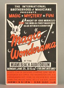 "I.B.M. ""Wonderama"" Magic Show Stand-Up Window Card"