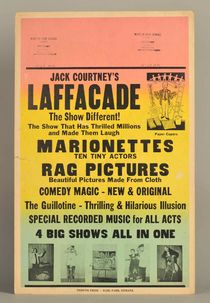 "Jeff Courtney's ""Laffacade"" Show Window Card"