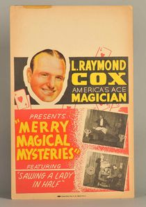 "L. Raymond Cox ""Ace Magician"" Window Card"