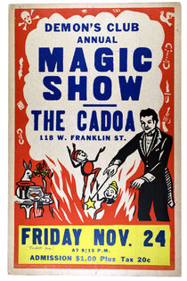 Demon's Club Annual Magic Show Window Card