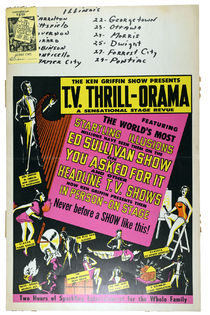 T.V. Thrill-Orama Window Card