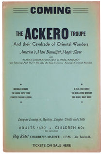 Ackero Troupe Blank Window Card