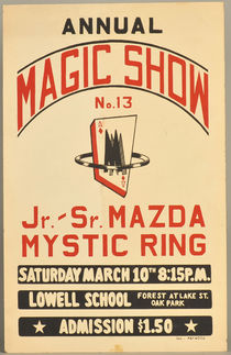 Magic Show Window Card